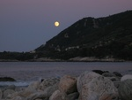Moonrise at Pilios beach