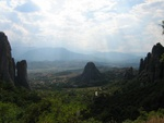 View down from the Meteora Monasteries